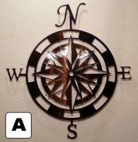 Buy a Custom Made Compass Rose Metal Wall Art Home Decor ...