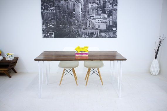 amish kitchen tables white cabinets buy hand made mid century modern black walnut dining table ...