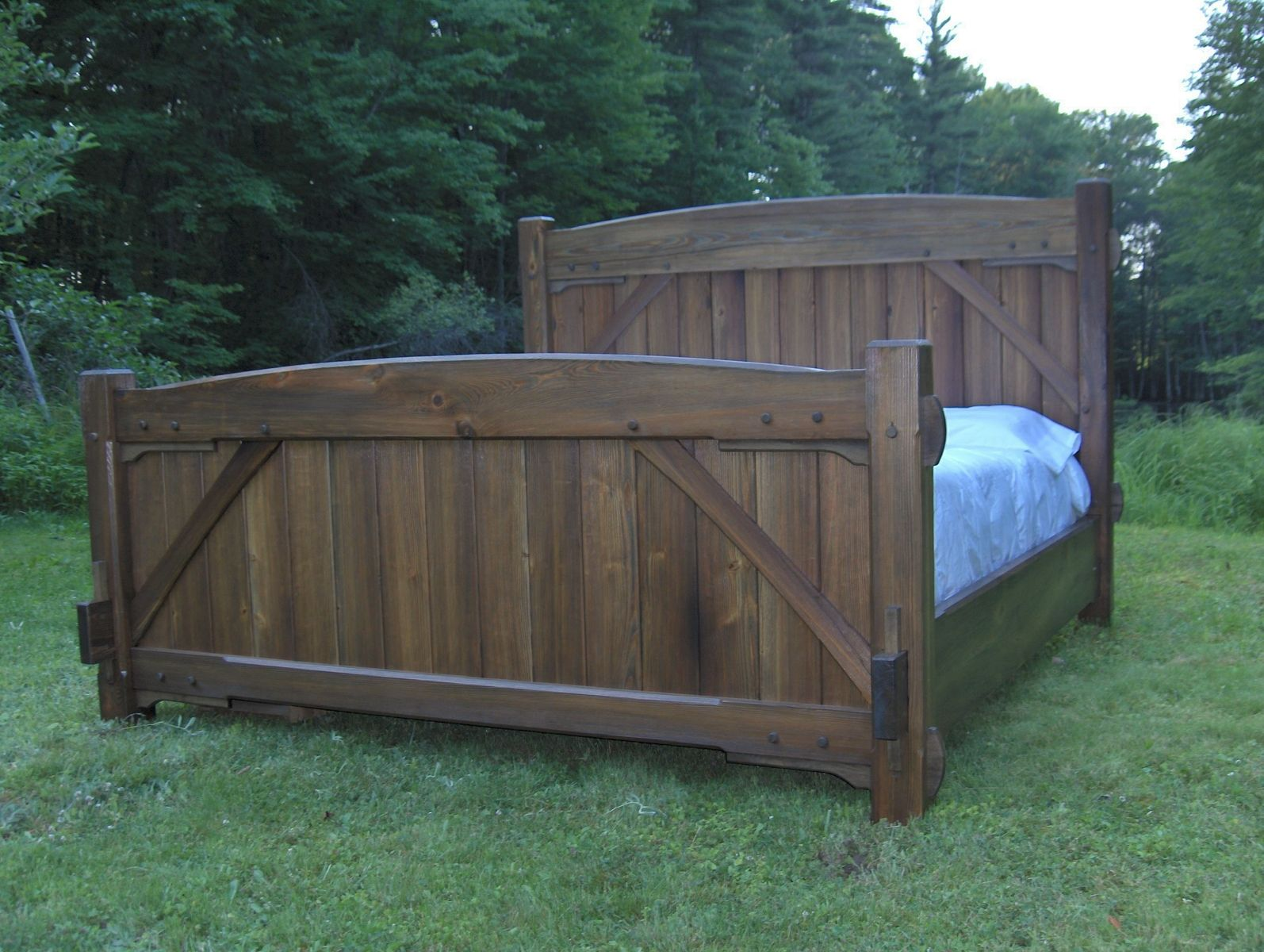 Custom Timber Frame Bed By Beiler Woodworks Llc