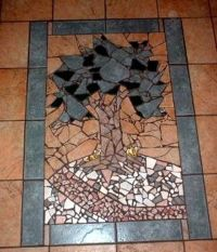 Hand Crafted Broken Ceramic Mosaic Tile Work by Earth ...