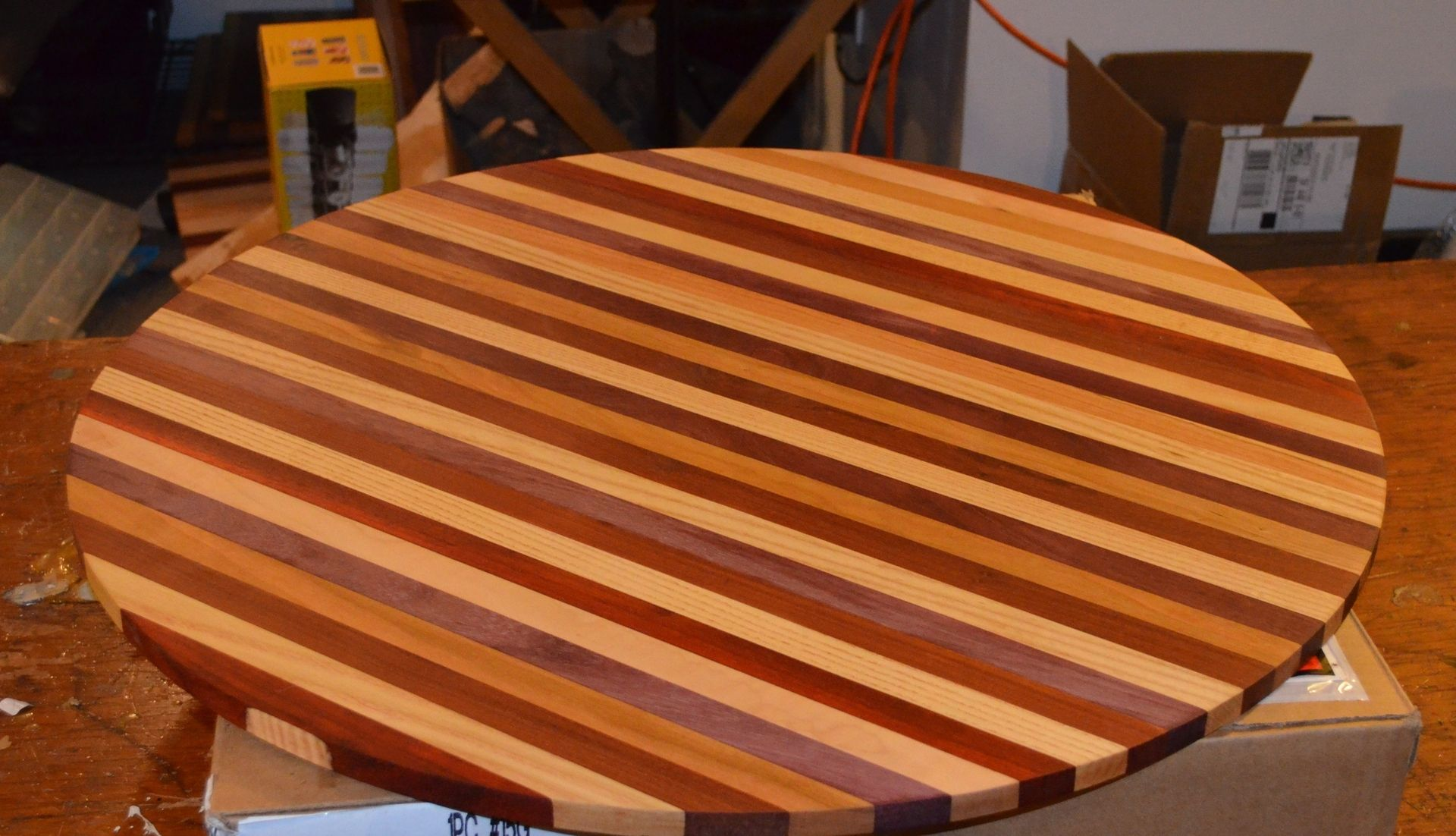 Boos Countertop Hand Crafted Butcher Block Table Top For Wine Barrel By