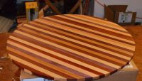Hand Crafted Butcher Block Table Top For Wine Barrel by ...