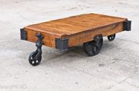 Buy a Custom Made Factory Cart Coffee Table, made to order ...