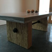 Hand Crafted Custom Concrete Steel & Wood