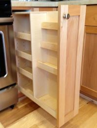 Handmade Pull Out Spice Rack by Noble Brothers Custom ...