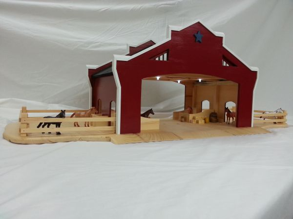Hand Wooden Toy Barn Order