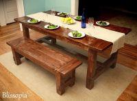 Custom Farmhouse Dining Table by Blissopia | CustomMade.com