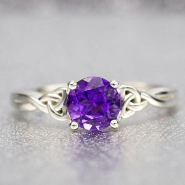 Amethyst Engagement Rings