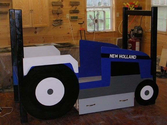 Custom Kids Tractor Bed By Larue Woodworking