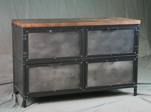 Buy a Hand Made Modern Industrial File Cabinet  Reclaimed