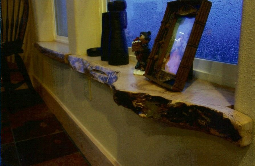 Hand Crafted Live Edge Window Sills And Trim by Blake