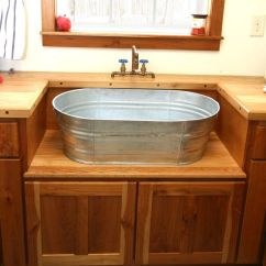 Rustic Kitchen Sinks Wall Art Hand Crafted Laundry Sink And Cabinet By Moss Farm Designs Custom Made