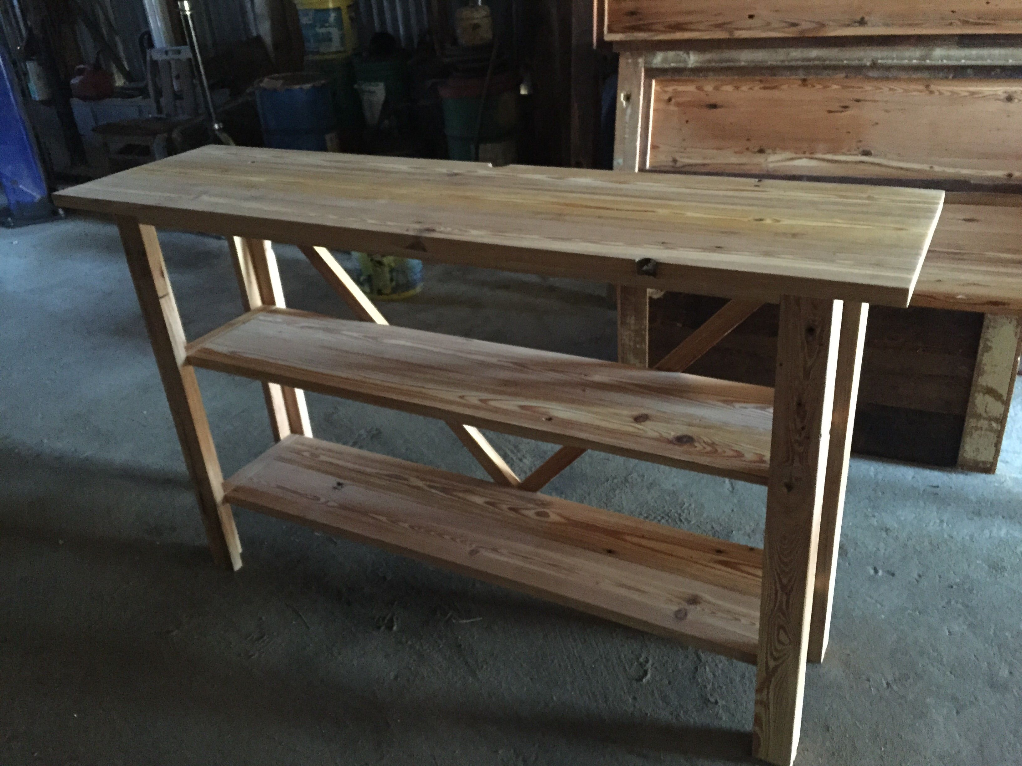 custom made sofa tables england sleeper sectional reclining loveseat hand crafted reclaimed heart pine table by saw mark