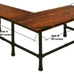 Buy Custom Made L Shape Desk Made In Solid Wood And Industrial Iron Pipe Sturdy Rustic Desk Made To Order From Wood Iron And More Custommade Com