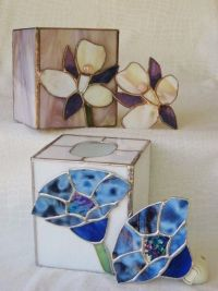Handmade Stained Glass Tissue Box Holder With Matching ...