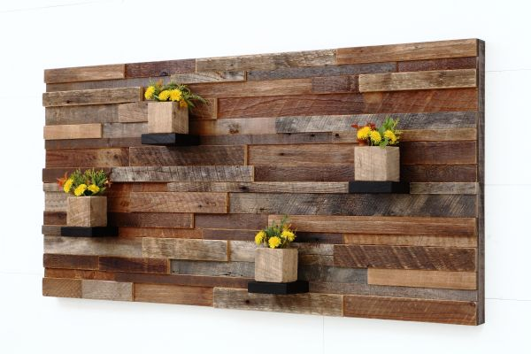 Handmade Wood Wall Art With Shelves 48