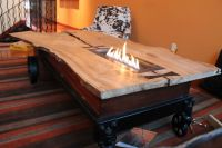 Hand Made Coffee Table//Fireplace//Industrial Cart by