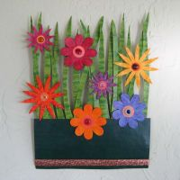 Hand Crafted Handmade Upcycled Metal Flower Garden Wall ...