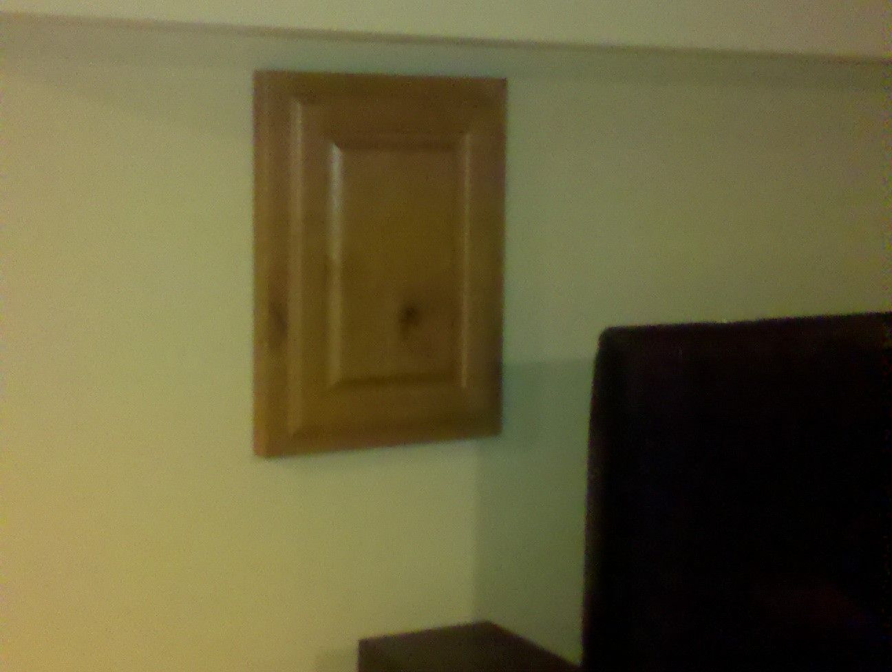 Hand Crafted Cabinet Door To Cover Access IE Breaker