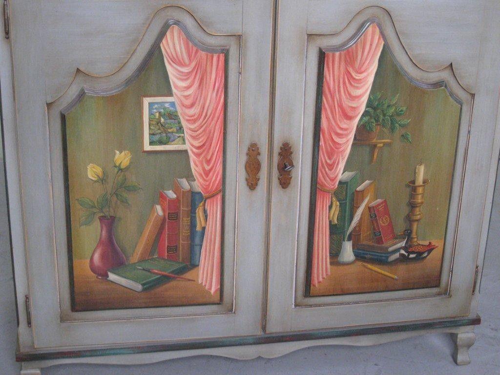 Hand Made Custom Made 2 Door European Style Hand Painted