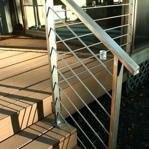 Custom Railings And Handrails Custommade Com   Stainless Steel Bannister Rails   Staircase Railing   Wood   Brushed Stainless   Railing Kits   Balcony