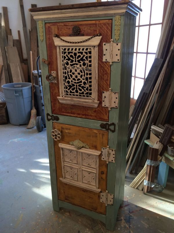 Hand Crafted Steampunk Cupboard Demolition Revival