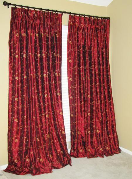 Custom Made Embroidered Faux Silk Curtains By Drea Custom