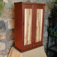 Kitchen Cabinets Tucson Ezr Degreaser Custom Made Bubinga And Spalted Maple Wall Cabinet By John ...