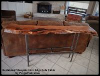 Buy a Hand Crafted Live Edge Mesquite Sofa Table, made to ...