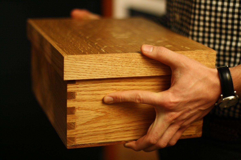 Hand Made Oak Shoe Coffre By Coffr
