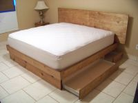 Handmade Storage Platform Bed by Scott Design | CustomMade.com