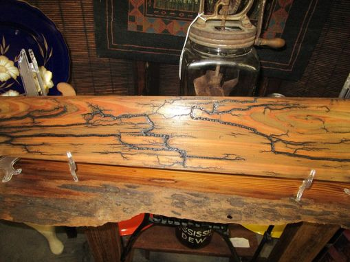 Handmade Fire Etched Pelt Board Electric Art by