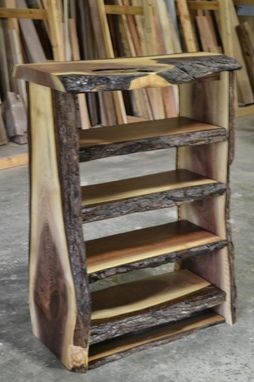 industrial style living room furniture paint colors for with dark brown couch custom made live edge walnut bookcase by corey morgan wood ...