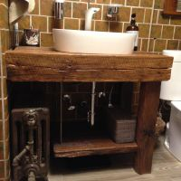 Rustic Wooden Bathroom Vanities With Awesome Example ...