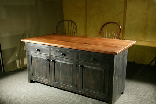 Hand Crafted Rustic Barn Wood Kitchen Island by ECustomFinishes  Reclaimed Wood Furniture