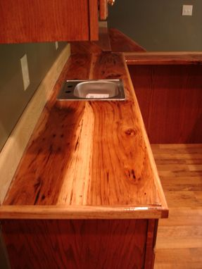 oak kitchen islands 12 inch wide cabinet custom bar with hickory counter top by smith ...