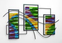 Custom Made Fused Glass And Metal Wall Art by Bonnie M ...