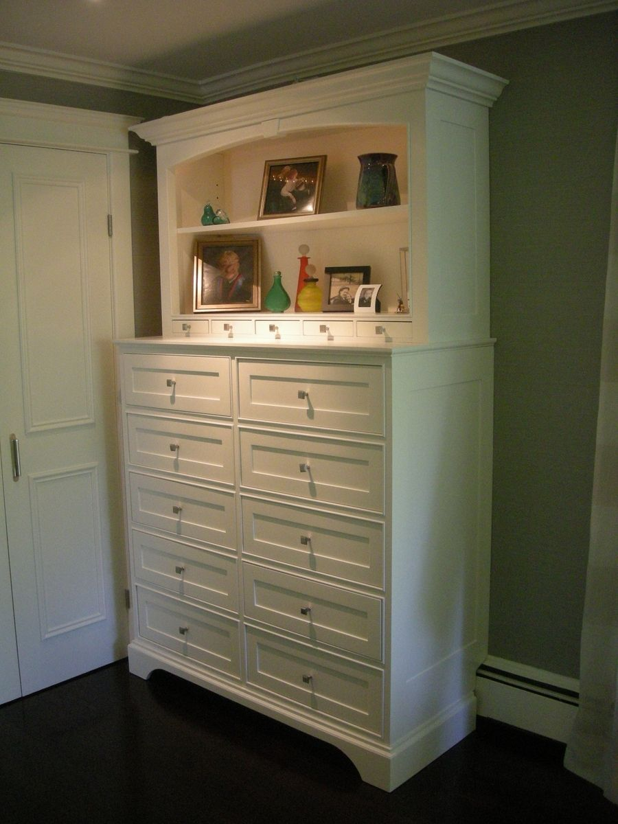 Hand Made Tall White Chest Of Drawers by Stepan Design