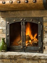 Custom Iron Fireplace Doors And Handles by Creations ...