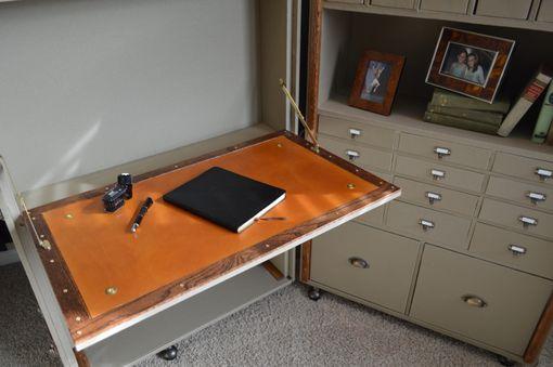 Custom Made Steamer Trunk Desk  Secretary by WoodBuckle