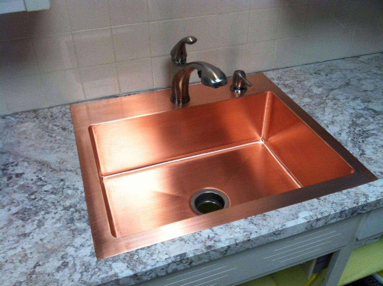 drop in farmhouse kitchen sinks how to clean tiles walls hand made copper sink by kutz fine
