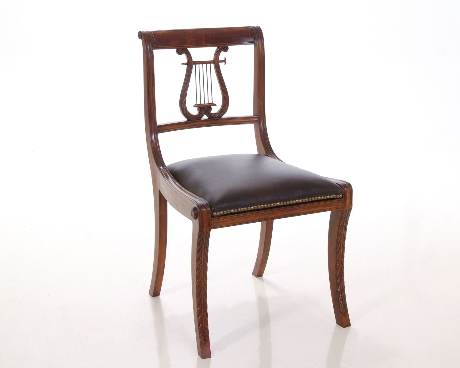Lyre Back Chairs Hand Made Lyre Back Chair By Kauffman Fine Furniture