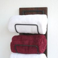 Buy Hand Crafted Wall Mounted Towel Rack - Towel Storage ...