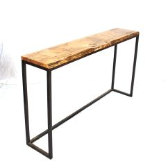 Custom Made Sofa Tables Thomasville Benjamin Recliner Hand Crafted Live Edge Hickory Console Table By Kurtz