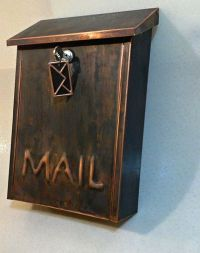 Hand Made Wall Mount Patina Copper Mailbox by Copperdesign ...