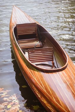 Hand Made Wooden Strip Kayak Micro Bootlegger Design By