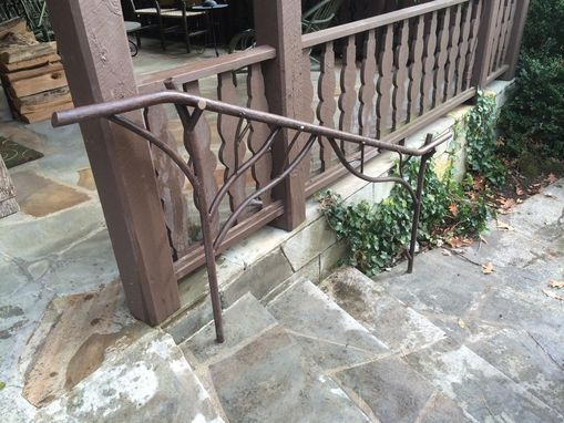 Hand Made Tree Branch Outdoor Railing by Iron Mountain