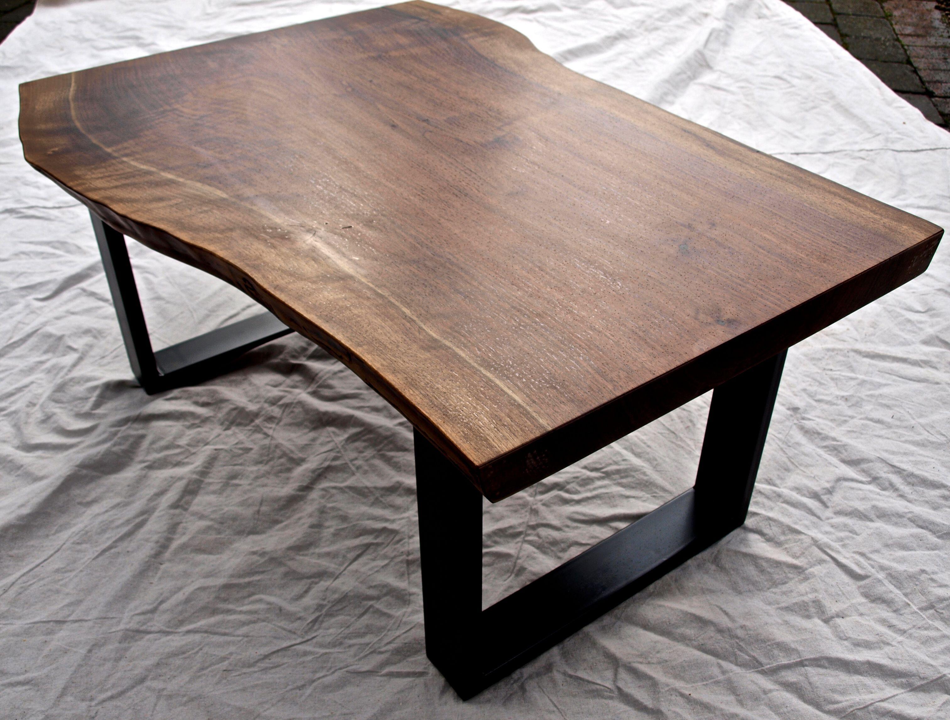 live edge walnut coffee table