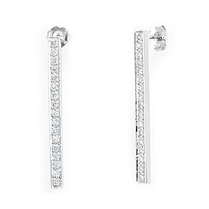 Buy Hand Crafted Diamond Dangling Stick Earrings, 14k