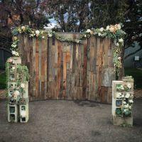 Custom Wood Wall Wedding Backdrop by Edison Metalworks ...